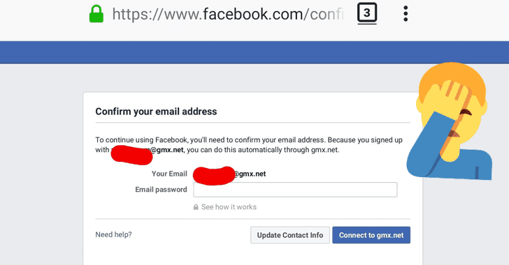 Facebook Caught Asking Some Users Passwords for Their Email Accounts