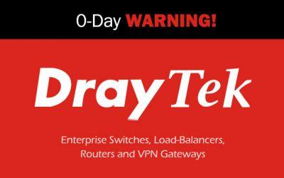 Hackers Exploit Zero-Day Bugs in Draytek Devices to Target Enterprise Networks